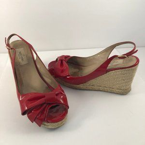 *CLEARANCE SALE* Valentino Red Wedges with Bow